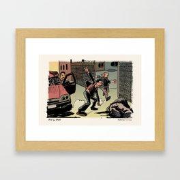 Beach Cop Detectives 11 - Hit & Run Framed Art Print