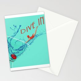 Dive In Head First Stationery Cards