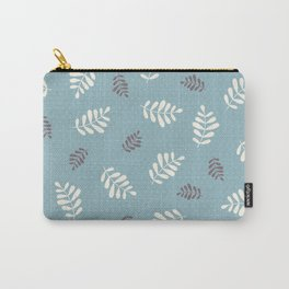 Falling Leaves – Blue Carry-All Pouch