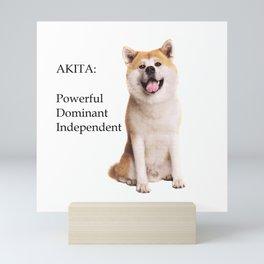 Akita Love Mini Art Print