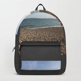 Mirrored beach photo Backpack