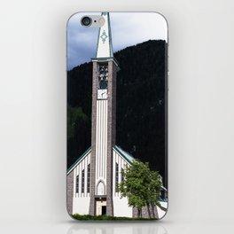 Church in Fassa Valley iPhone Skin