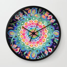 Color Celebration Mandala Wall Clock