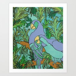 Two Can Blue Art Print