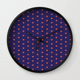 Heart Attack (Blue) Wall Clock