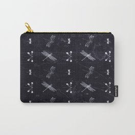 Black and White Dragonfies Carry-All Pouch