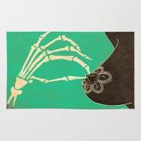 dia de los muertos Area & Throw Rugs featuring Dia de los Muertos by Francesco Tortorella