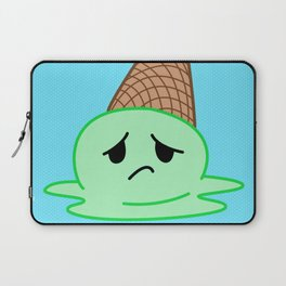 Sad Food - Oopsy Daisy Ice Cream by Squibble Design Laptop Sleeve