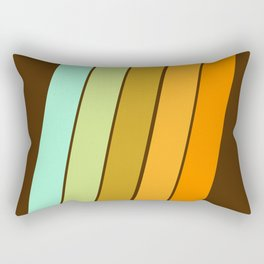 Fer Shure - retro throwback minimal 70s style decor art minimalist 1970's vibes Rectangular Pillow