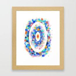 Dance in space Framed Art Print