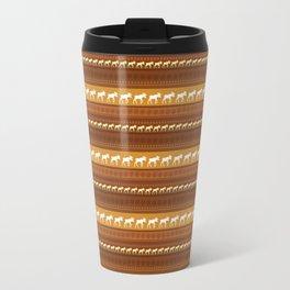 Moose Brown Repeating Pattern Travel Mug