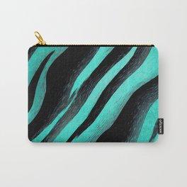 Cyan Zebra Carry-All Pouch