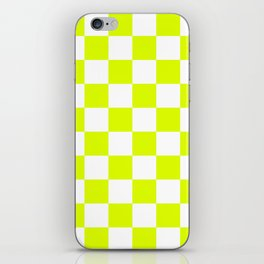 Chartreuse Checkers Pattern iPhone Skin