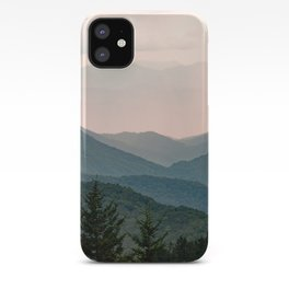 Smoky Mountain Pastel Sunset iPhone Case