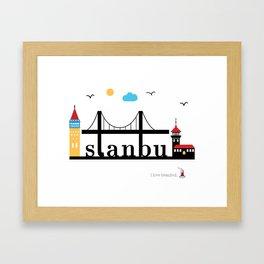Istanbul. Framed Art Print