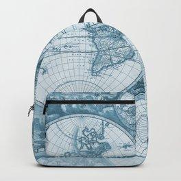 Antique Blue Map Backpack