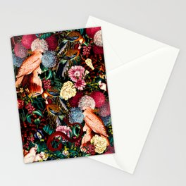 Floral and Animals pattern II Stationery Cards
