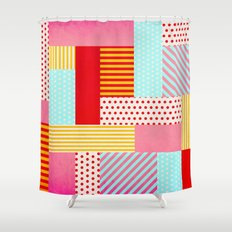 Geometric Pop Shower Curtain