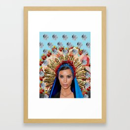 KimK Framed Art Print