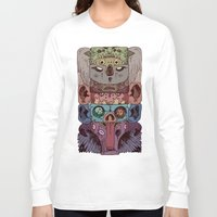 totem Long Sleeve T-shirts featuring Totem by kitsunebis