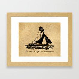 Divine Comedy - Dante Alighieri - Uncharted Sea Framed Art Print