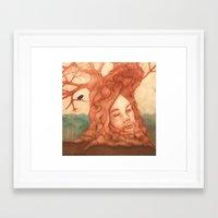 fleet foxes Framed Art Prints featuring Fleet Foxes by Matt Tribe