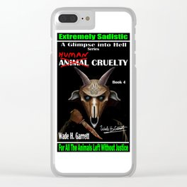 """""""Human Cruelty"""" book cover art with signature Clear iPhone Case"""