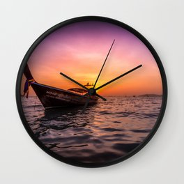 Longtail Sunset Wall Clock