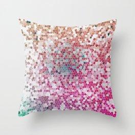 Orange Magenta Beautiful Pink Fantasy Colorful Pattern Throw Pillow