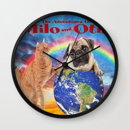 Milo And Otis Take On The World Wall Clock