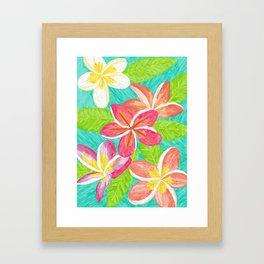 Plumeria love Framed Art Print