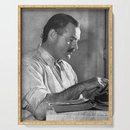 Ernest Hemingway Serving Tray