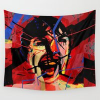 psycho Wall Tapestries featuring Shower scene from Psycho. by brett66