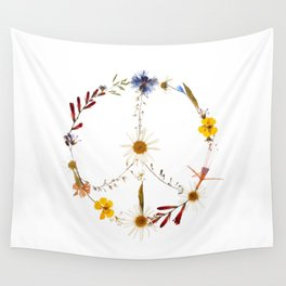 Peace flowers Wall Tapestry