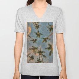 Palm Trees Grow Into Sky Unisex V-Neck