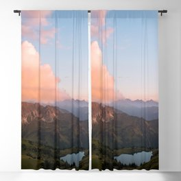 Mountain lake in Germany with Moon - landscape photography Blackout Curtain