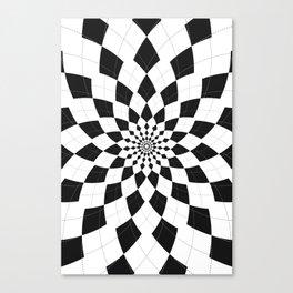 Black & White Argyle Canvas Print