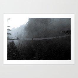 Dark Capilano Bridge Art Print