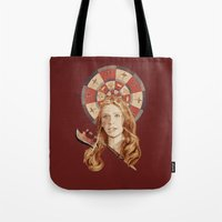buffy Tote Bags featuring Buffy by mycolour