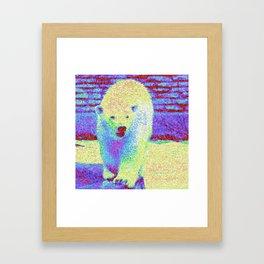 Colorful Polar Bear Framed Art Print