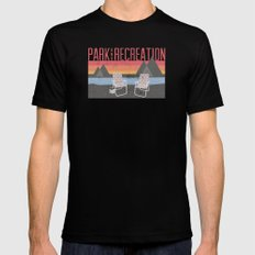 Park & Recreation Black MEDIUM Mens Fitted Tee