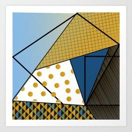 Texture & Shapes Art Print