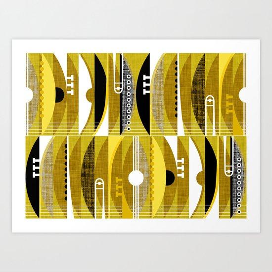 Rhythm n Brass Art Print