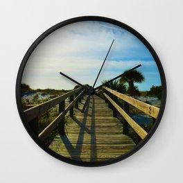Boardwalk to the Beach on Little Gasparilla Island, Florida USA Wall Clock