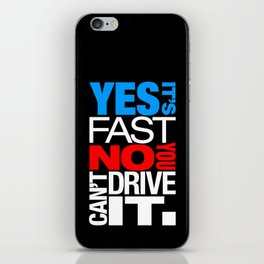 Yes it's fast No you can't drive it v1 HQvector iPhone Skin