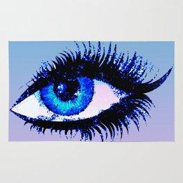 Digital Watercolor Female Eye Rug