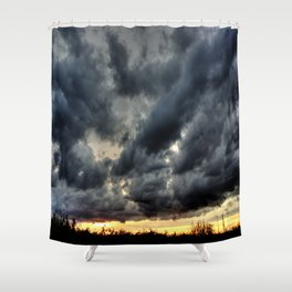 Angry Clouds Shower Curtain