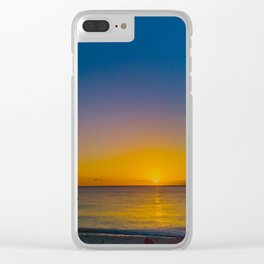Setting Sun And Sea Clear iPhone Case