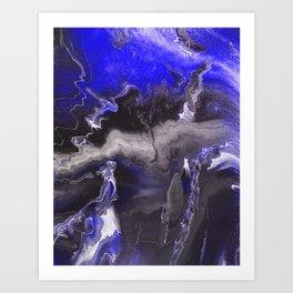 Purple Blue Lightning Art Print