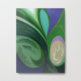 Abstract Green Peace by Robert S. Lee Metal Print